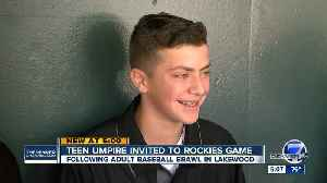 Teen umpire caught up in Lakewood youth baseball brawl invited to Rockies game [Video]