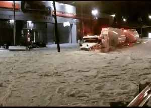Ice Covers Guadalajara Streets After Severe Hail Storm [Video]