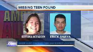 Teen at center of AMBER Alert found safe [Video]