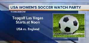 Topgolf watch party for soccer game [Video]