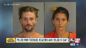 Police: Florida couple uses drugs next to toddler in roach-infested car [Video]