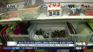 Foundation for Lee County Public Schools holds annual back to school supply drive [Video]