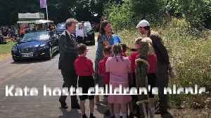 Duchess of Cambridge hosts picnic at her Back to Nature garden [Video]