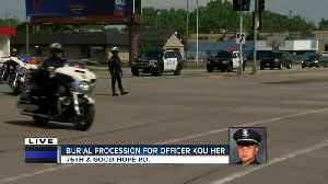 Officer Kou Her remembered for representation in Hmong community during procession [Video]