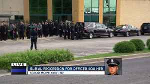 Procession held for Officer Kou Her [Video]