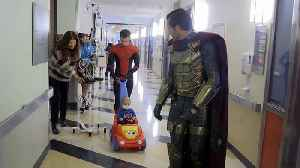 'Spider-Man' spins web of delight at children's hospital in LA [Video]