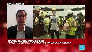 Hong Kong Protests: Protesters Stormed Parliament on Handover Anniversary [Video]
