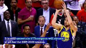 Klay Thompson Re-Signs With Warriors [Video]