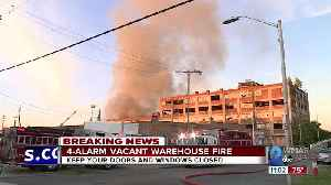 Baltimore Fire respond to a large warehouse fire in West Baltimore [Video]