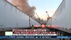 Baltimore Fire responds to a large warehouse fire in West Baltimore, no injuries reported [Video]