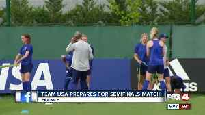 News video: USA women's soccer team heads to semifinals match