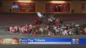 Fans Flock To Angel Stadium To Pay Their Respects To Tyler Skaggs [Video]