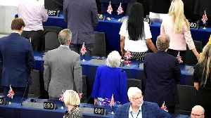 Anti-Europe MEPs turn backs on Europe anthem at opening session [Video]