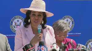 Web Extra: Rep. Wilson At Homestead Facility For Migrant Children [Video]