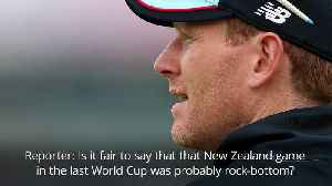 Eoin Morgan reflects on England's previous World Cup humiliation against New Zealand [Video]