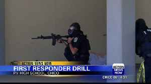 First responders conduct drill at Pleasant Valley High School in Chico [Video]