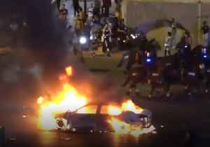 Car Burns on Tel Aviv Street as Protests Flare Over Police Shooting of Teen [Video]