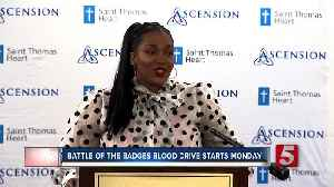 Battle of the badges blood drive begins Monday [Video]