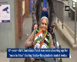 Filled with enthusiasm, 87-year-old woman cheer for team India [Video]