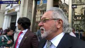 Vijay Mallya appears outside London High Court with son [Video]