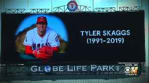 Rangers Pay Tribute To Angels Pitcher Tyler Skaggs Who Died Monday [Video]
