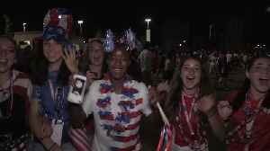 News video: Women's World Cup: Fans in Lyon react after England's semi-final heartbreak