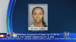Child Left In Car By Mom While She Applied For Job [Video]