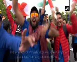 Fans celebrate India's win against Bangladesh as team qualifies for semis [Video]