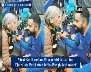 Kohli meets 87-year-old 'most passionate' fan, takes her blessings [Video]