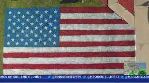 Friends Paint Massive American Flag On Lawn To Honor Troops On 4th Of July [Video]