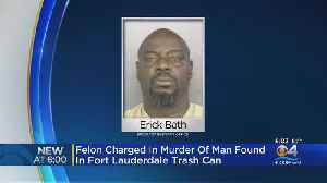 Man Charged After Dead Body Found In Trash [Video]