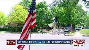 Tulsa Boy Scouts plant flags in neighborhoods for patriotic holidays [Video]