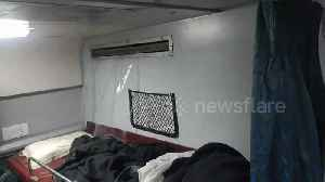 Indian passengers shocked as water gushes into train carriage from air conditioning unit [Video]