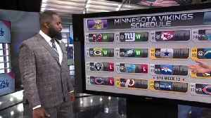 NFL Network's David Carr, free agent defensive lineman Andre Fluellen predict every game on Minnesota Vikings' 2019 schedule [Video]