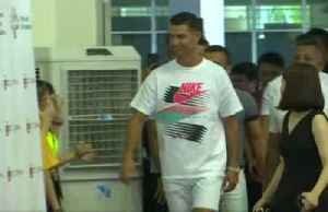 Cristiano Ronaldo visits school in support of Singapore Olympic Foundation [Video]