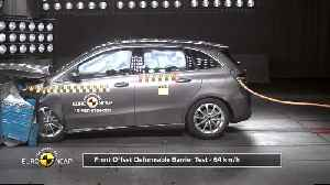 Mercedes-Benz B-Class - Crash Tests 2019 [Video]