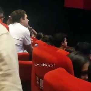 After quitting as party chief, Rahul watched movie in Delhi theatre [Video]