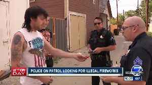 Denver Police are out on the streets cracking down on illegal fireworks this Fourth of July [Video]