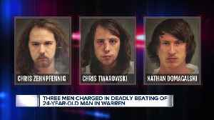3 men charged in deadly beating of 24-year-old man in Warren [Video]