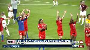 News video: USA women's team set to play Netherlands in World Cup Final Sunday