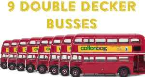 Jute Bag size of 9 double decker bus', smashed WR [Video]