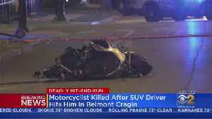 Motorcycle Rider Killed In Belmont Cragin Hit-And-Run [Video]