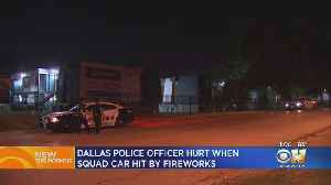 News video: Police Searching For Suspect Who Shot Fireworks At Dallas Squad Car