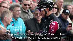 Team Ineos: Chris Froome is in a remarkable spirit after accident