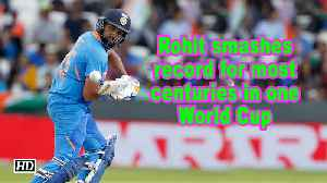 Rohit becomes highest scorer in group stages of a single WC [Video]
