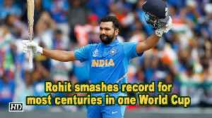 Rohit smashes record for most centuries in one World Cup [Video]