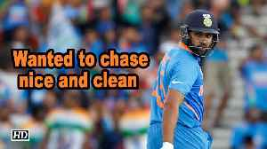 World Cup 2019 | Wanted to chase nice and clean: Rohit Sharma [Video]