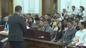 News video: More Than 40 People Take Oath Of Citizenship
