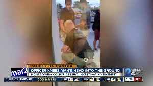 Caught on Camera: Officer knee's man's head into the ground [Video]