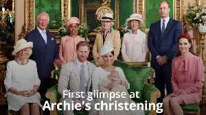 News video: Harry and Meghan release first pictures of Archie's christening